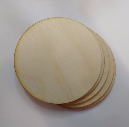 wooden coaster blanks 9cm  round birch plywood Pack of 10,25 or 50 crafts